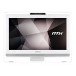 LCDPC M-Touch MSI PRO 20ET 4BW-044EU 19.5'WHT N3160 4GBDDR3 1TB3.5' W10 ODD WiFi 6USB 1XRS232 CAM T+M 1Y