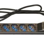RACK19 MULTIPRESA LK10050 con 6P universali tripolari/SHUKO magnetotermica