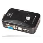 KVM SWITCH USB ATLANTIS P021-MT200-U 2P - Supporto mouse e tast. Interr. x cambio contr. - 2 cavi coll. a PC -