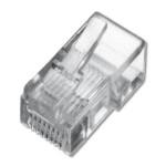 CONNETTORE PLUG CAT.5e DIGITUS PL818 non schermato RJ45- trasparente- Confezione da 100pcs - EAN 4016032065173