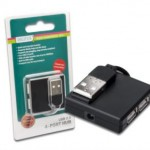 HUB MINI USB2.0 4P DIGITUS DA70217 NERO - Cavo incluso - EAN:4016032306542