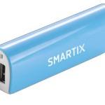 POWERBANK ATLANTIS P031-STA26-1A-BL 2600mAh 1A batt.- BLU/BIANCO - Conn.USB e MicroUSB (incl. cavo) - EAN: 802