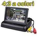 Monitor Retrovisione Pieghevole a Colori 4:3 con 2 Ingressi Video NUOVO