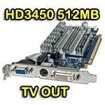 Scheda video ATI Radeon HD3450 512MB DDR2 PCI-e VGA TV-Out DVI Display 188-0CE40-005SA