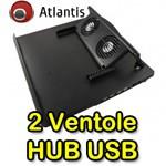 SUPPORTO X NOTEBOOK ATLANTIS P008-LSY-831  CON DOPPIA VENTOLA+HUB USB2.0 4P EAN 8026974013480