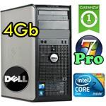 PC Dell Optiplex 780 Core 2 Duo E5400 2.7Ghz 4Gb Ram 160Gb DVDRW PARALLELA Windows 7 Professional Tower 1Y