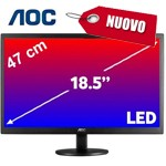 Monitor AOC LCD LED 19 Pollici WIDE E970SWN 5ms 0.3 1366x768 700:1 BLACK VGA Vesa NUOVO 1Y