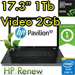 Notebook HP Pavilion 17-g105nl Core i5-6200U 8Gb 1Tb 17.3' FHD AG LED GeForce 940M 2GB Windows 10 1Y
