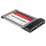 Adattatore PCMCIA a 2 porte Serial ATA nuovo
