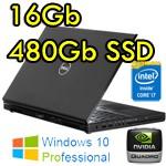 Mobile Workstation Dell Precision M4700Core i7-3520M 16Gb 480Gb SSD 15.6' nVIDIA Quadro K2000M Windows 10 Pro