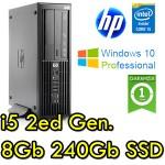 Workstation HP Z210 SFF Core i5-2400 3.1GHz 8Gb 240Gb SSD DVDRW NVIDIA QUADRO 600 1Gb Windows 10 Professional