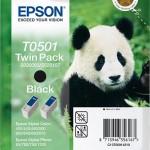 EPSON C13T05014210 TWINPACK 2 CARTUCCE T0501 PANDA 2 X 150 ML NERO