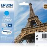 EPSON C13T70224010 CARTUCCIA T7022 TORRE EIFFEL 213 ML XL CIANO