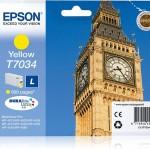 EPSON C13T70344010 CARTUCCIA T7034 BIG BEN STANDARD L GIALLO