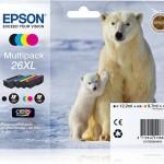 EPSON C13T26364010 MULTIPACK 4 CARTUCCE 26XL CLARIA PREM. ORSO POLARE
