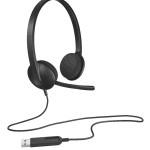 LOGITECH 981-000475 LOGITECH USB HEADSET H340 - BLACK - USB