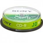SONY 10CDQ80SP CDR 80  700MB SPINDLE 10 PZI