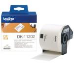 BROTHER DK11202 300 ETICHETTE ADES IN CARTA NERO BIANCO 62MMX100M