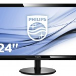 PHILIPS 246V5LSB/00 24 LED WIDE 1920X1080 5MS DVI VGA NERO