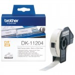 BROTHER DK11204 400 ETICH ADES CAR NER0 BIANC 17X54