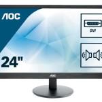 AOC E2470SWDA 23.6 LED 16 9 1920X1080 DVI-D MMD VESA BLACK