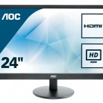 AOC E2470SWHE 23.6 LED 16 9 1920X1080 5MS 2 HDMI VESA BLACK