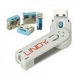 LINDY LINDY40452 SERRATURE PER PORTE USB BLU