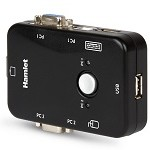 HAMLET HNKVM3U KVM SWITCH PER 2 PC + 3 USB+ VGA. **