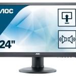 AOC E2460PDA 24 LED 16 9 1920X1080 DVI-D MMD PIVOT REG H BLACK