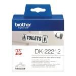 BROTHER DK22212 NASTRO ADES IN PELLICOLA NERO BIANCO 62MM - 15.24