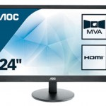AOC M2470SWH 23 6   LED MVA  16 9  1920X1080 5MS 2 HDMI MULTIM