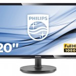 PHILIPS 200V4QSBR/00 LED 19,5 1920X1080 3000 1, 250 CD/M², VGA, DVI,