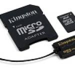 KIT SDC4 8GB + MICROSD USB READER + SD ADAPTER