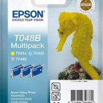 EPSON C13T048B4010 MULTIPACK 3 CARTUCCE T048B CAVALLUCCIO MARINO