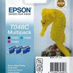 EPSON C13T048C4010 MULTIPACK 3 CARTUCCE T048C CAVALLUCCIO MARINO