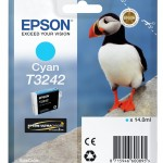 EPSON C13T32424010 CARTUCCIA HI-GLOSS2 T3242 PUFFIN  140 ML CIANO