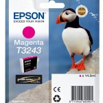 EPSON C13T32434010 CARTUCCIA HI-GLOSS2 T3243 PUFFIN  140 ML MAGENTA