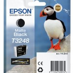 EPSON C13T32484010 CARTUCCIA HI-GLOSS2 T3248 PUFFIN 140 ML NERO MATTE