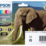 EPSON C13T24284011 MULTIPACK 6 CARTUCCE 24 CLARIA PHOTO HD ELEFANTE