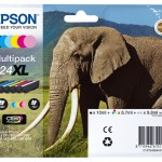 EPSON C13T24384021 MULTIPACK 6 CARTUCCE 24XL CLARIA PHOTO HD ELEFANTE