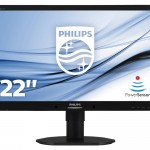 PHILIPS 220B4LPYCB/00 22 LED 16 10 POWER SENSOR PIVOT MM DP DVI VGA USB