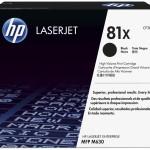 HP INC. CF281X HP 81X BLACK LASERJET TONER CARTRIDGE
