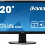 IIYAMA E2083HSD-B1 19 5  1600X900 VGA  DVI  SPEAKERS   250CD M²