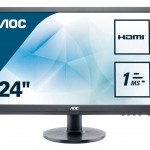 AOC E2460SH1 24 , LED, 16 9, 1920X1080, 1MS, HDMI,DVI
