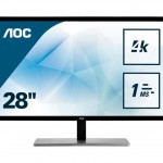 AOC U2879VF 28 4K 16,9 3840X2160 1MS DVI HDMI DISPLAYPORT