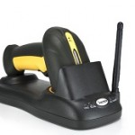 LETTORE PIST BARCODE SCANNER LASER WIRELESS + BASE