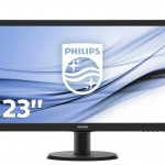PHILIPS 246V5LDSB/00 24  LED, 1920*1080, 16 9, 250 CD/M², HDMI,DVI,VGA