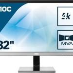 AOC U3277PWQU 31.5 4K 16.9 3840X2160 4MS DVI HDMI DISPLAYPORT