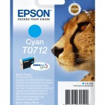 EPSON C13T07124012 CARTUCCIA ULTRA T0712 GHEPARDO  55 ML CIANO