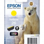 EPSON C13T26144012 CARTUCCIA CLARIA  PREMIUM 26 ORSO POLARE GIALLO